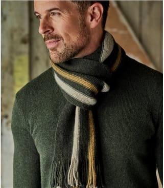 Мужской шарф в полоску