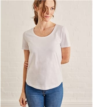 Womens Jersey Scoop Neck Short Sleeve T-Shirt