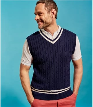Mens Sleeveless Cricket Sweater