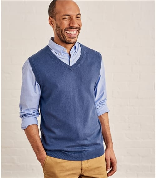 Mens Cashmere and Cotton Vest