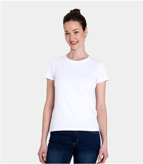 Womens Jersey Crew Neck Short Sleeve Tee