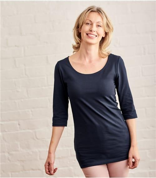 Womens Jersey 3/4 Sleeve Tunic