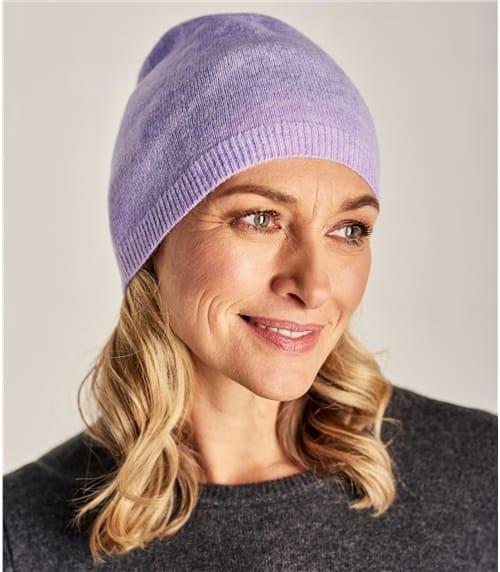 Женская шапка из натурального кашемира