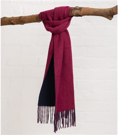 Mens Double Sided Merino Scarf