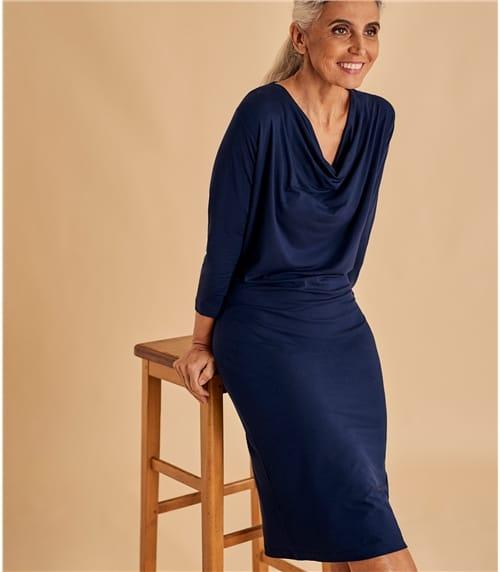 Womens Cowl Neck Dress