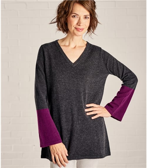 Womens Color Block Tunic