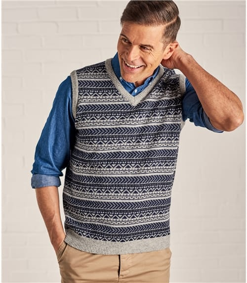 Mens Fairisle Slipover