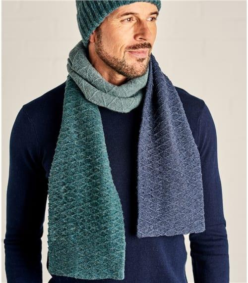 Мужской шарф колор блок