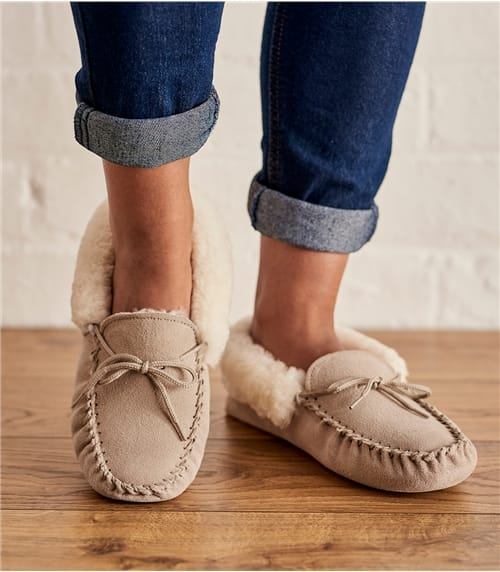 Womens Sheepskin Moccasin Slipper