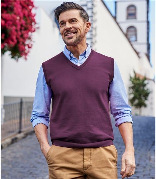 Pull sans manches - Homme - Coton peigné