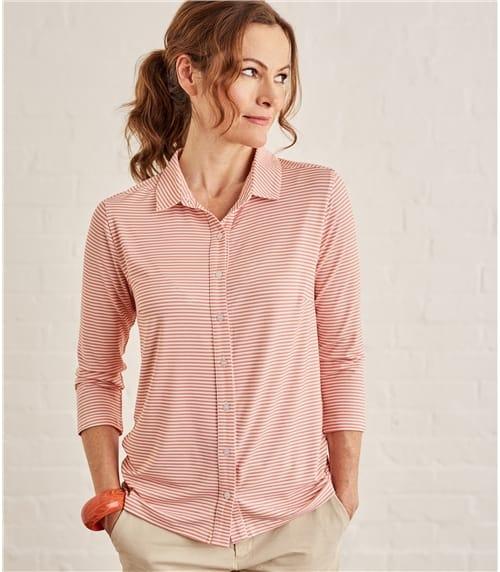 Chemise imprimé à manches 3/4 - Femme - Jersey