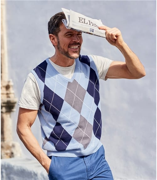 Mens Argyle Slipover