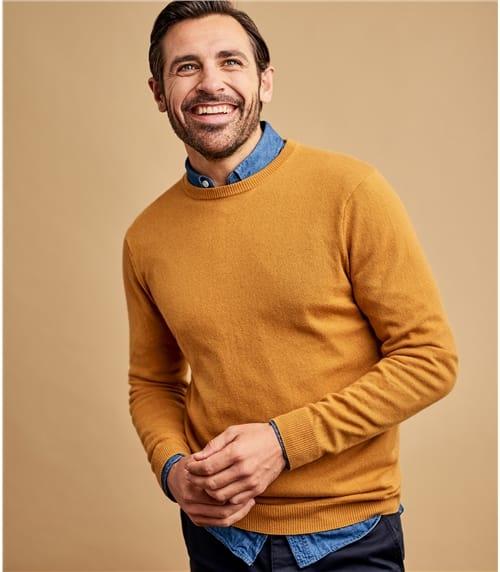Mens Cashmere and Merino Crew Neck Sweater