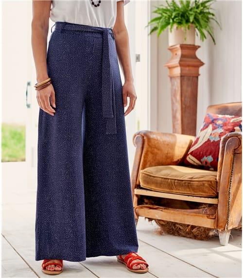 Pantalon large - Femme - Jersey