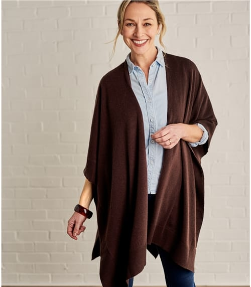 Womens Cashmere Merino Blend Blanket Wrap