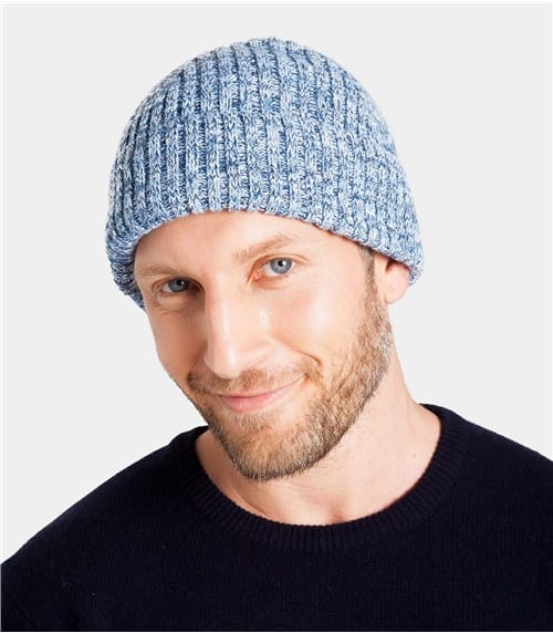 Mens Ribbed Cotton Hat