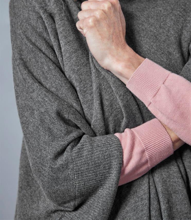 Женская накидка из кашемира и шерсти мериноса