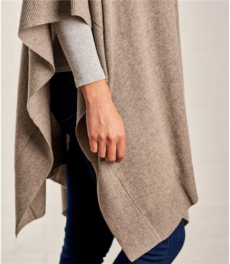 Überwurf aus Merino- und Kaschmirwolle für Damen