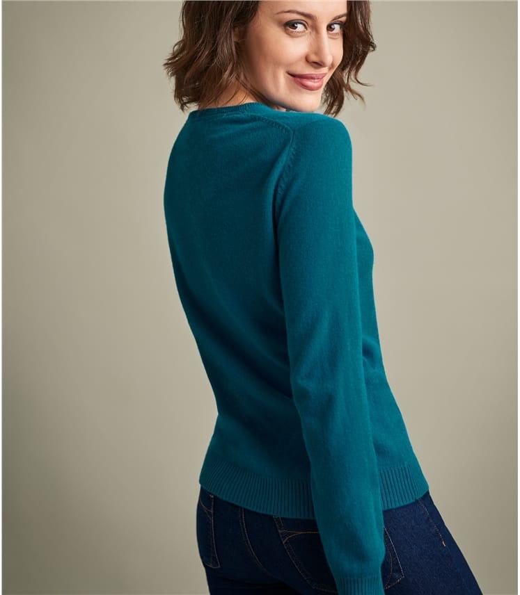 Womens Pure Cashmere Crew Neck Sweater