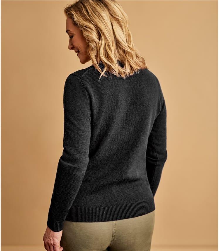 Womens Lambswool Crew Neck Sweater