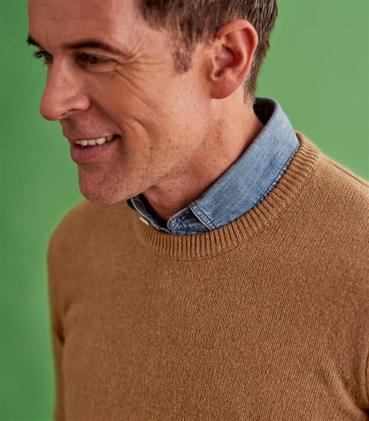 Mens Lambswool Crew Neck Sweater