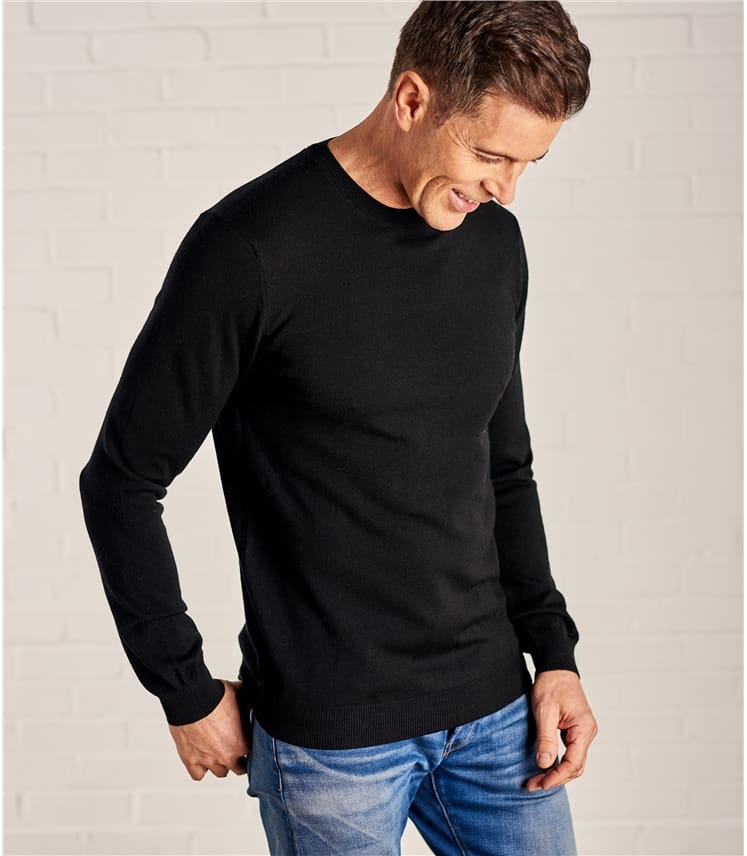 Mens New Merino Crew Neck Sweater