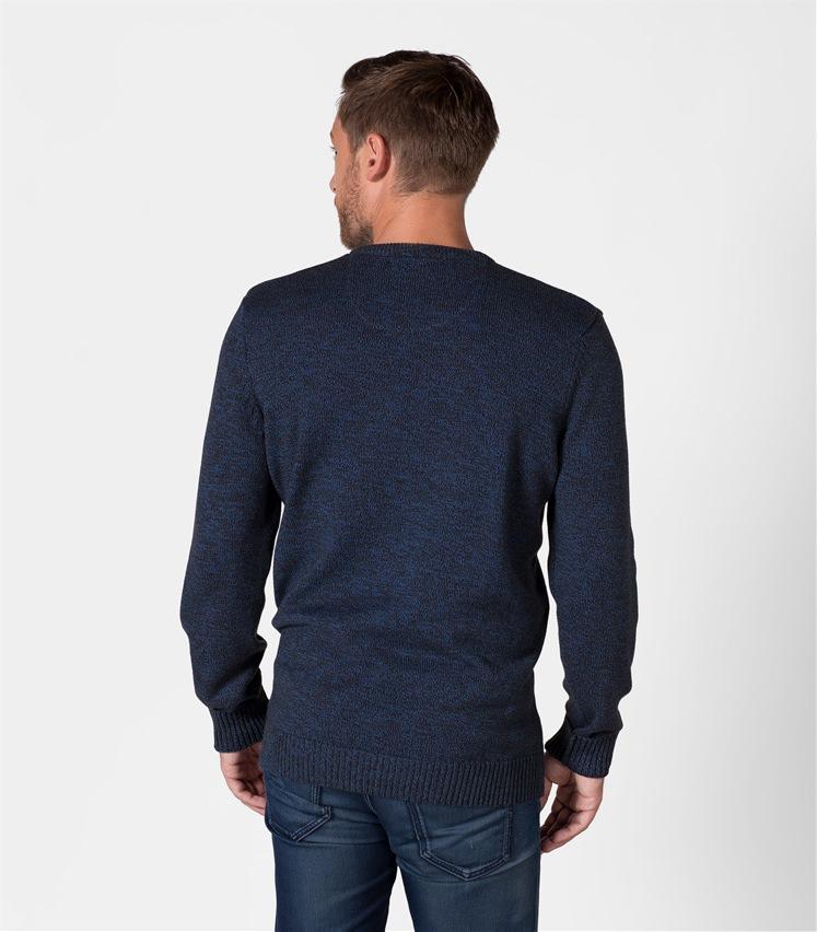 Mens 100% Cotton Twist Crew Neck Sweater