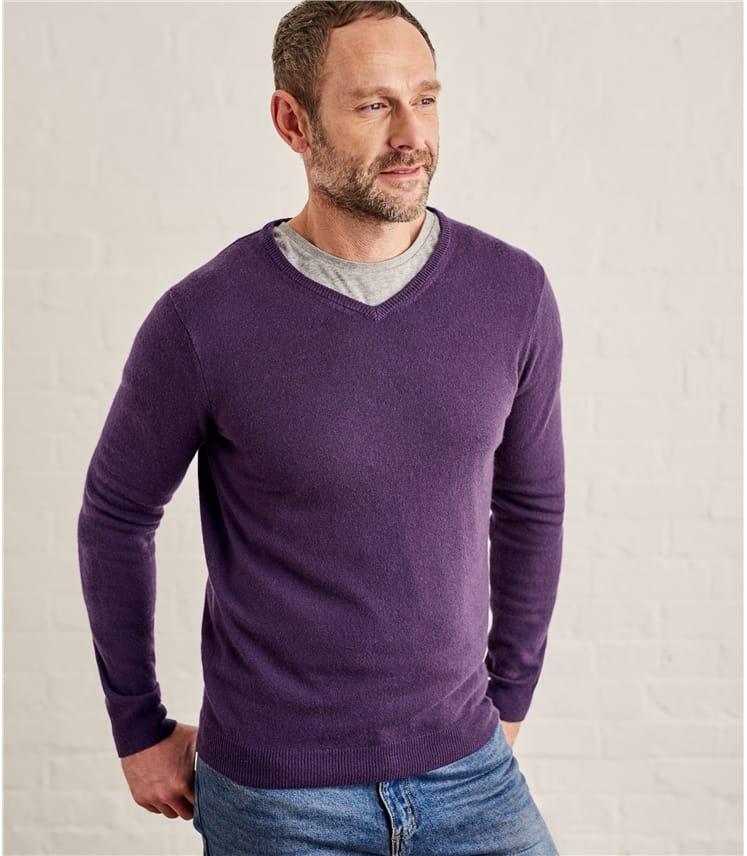 Мужской пуловер из кашемира и шерсти мериноса