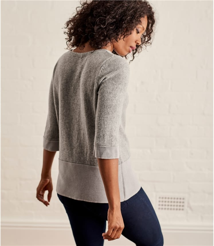 Womens Alpaca Mix Boatneck Sweater