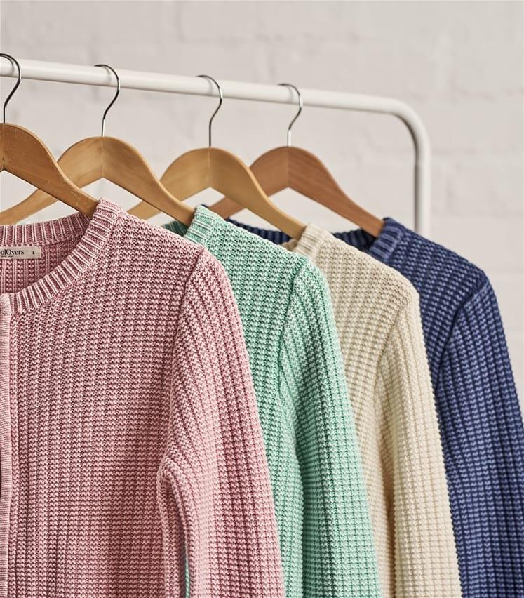 Womens Cotton Dye Zip Jacket
