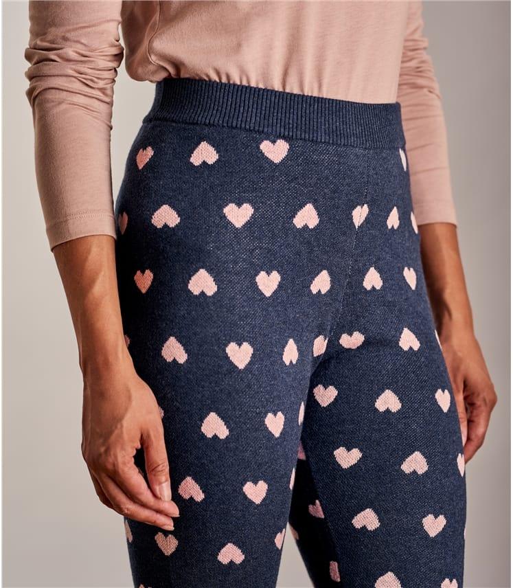 Womens Heart Lounge Leggings