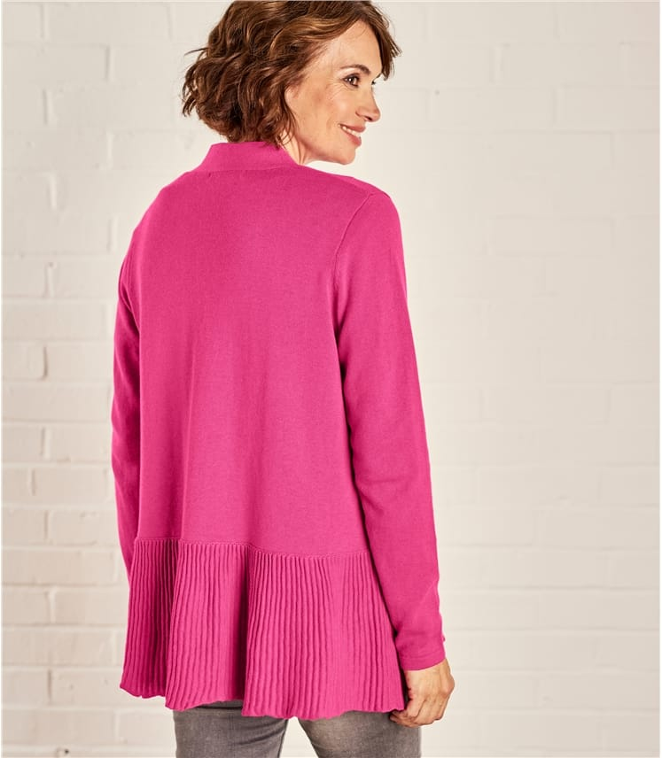 Womens Open Pleat Cardigan