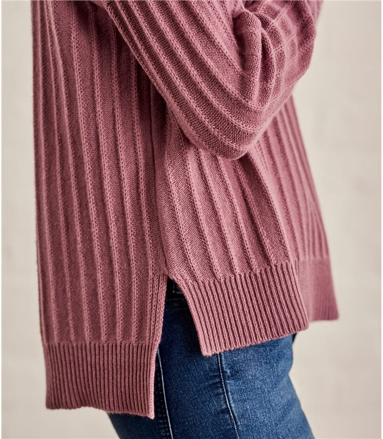 Womens Textured Rib Jumper