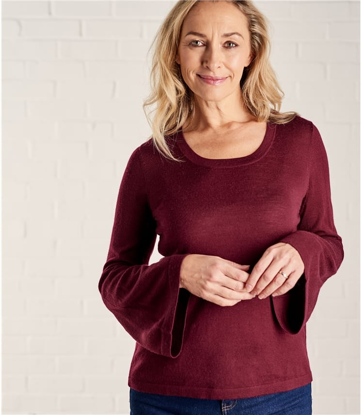 Womens Flute Sleeve Top