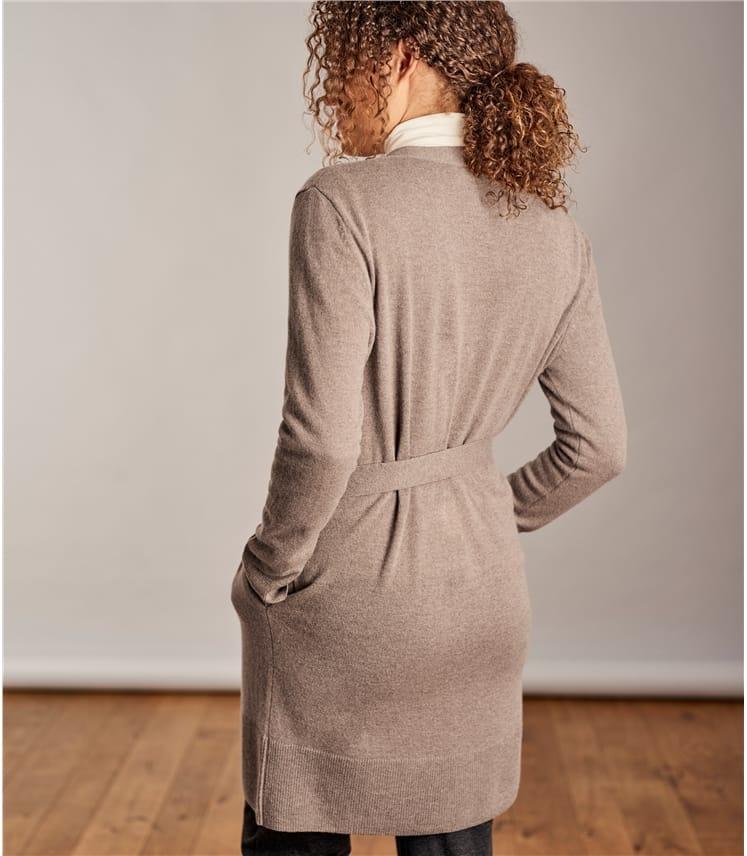 Womens Cashmere Merino Belted Robe