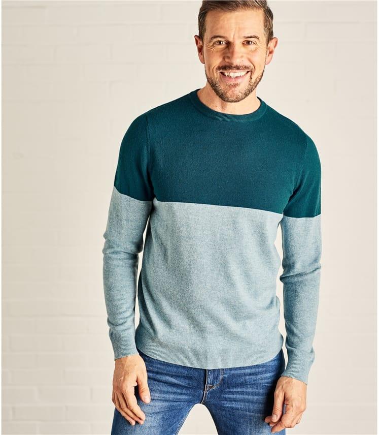 Mens Color Block Sweater