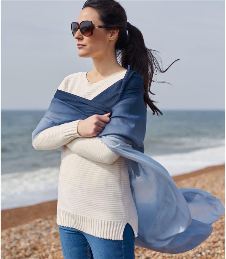 Foulard Ombré - Femme - Pure laine
