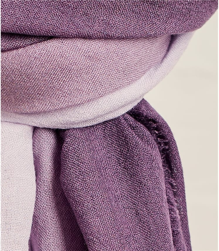 Womens Woven Ombre Scarf