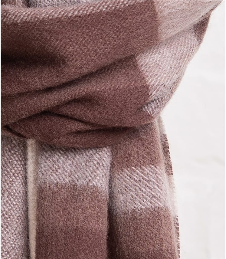 Womens Woven Check Scarf