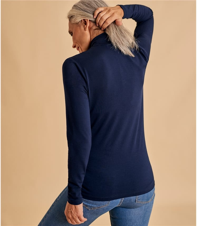 Womens Slim Turtle Neck Top
