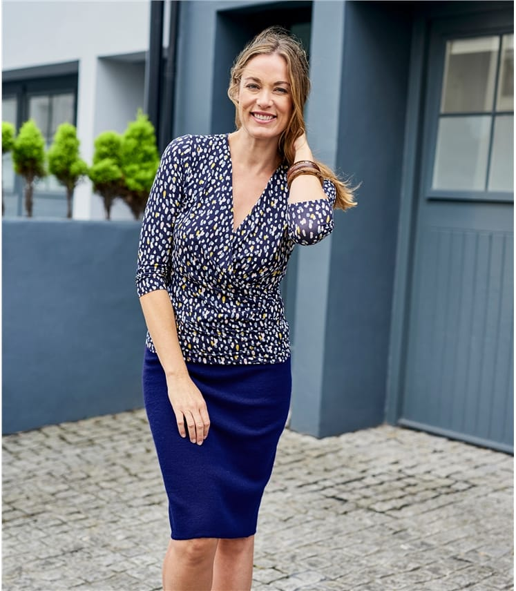 Womens Fixed Wrap Top