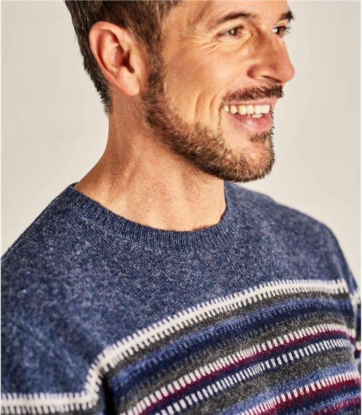 Mens Zig Zag Stripe Sweater