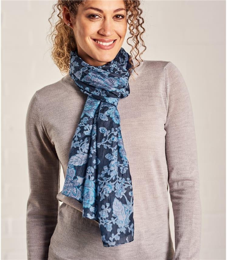 Женский шарф из натурального шелка