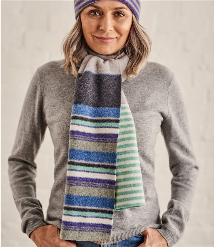 Womens Colourblock Scarf