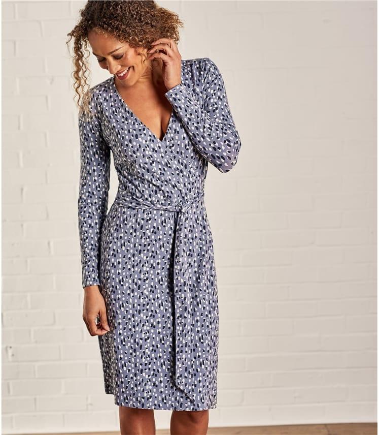 Womens Jersey Wrap Dress