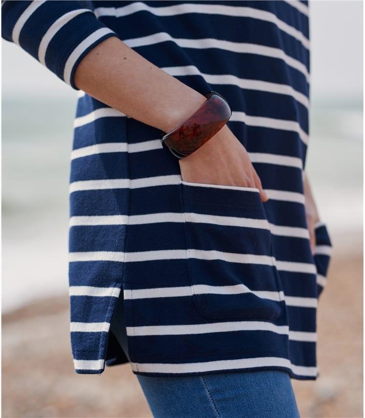Womens Jersey Patch Pocket Tunic
