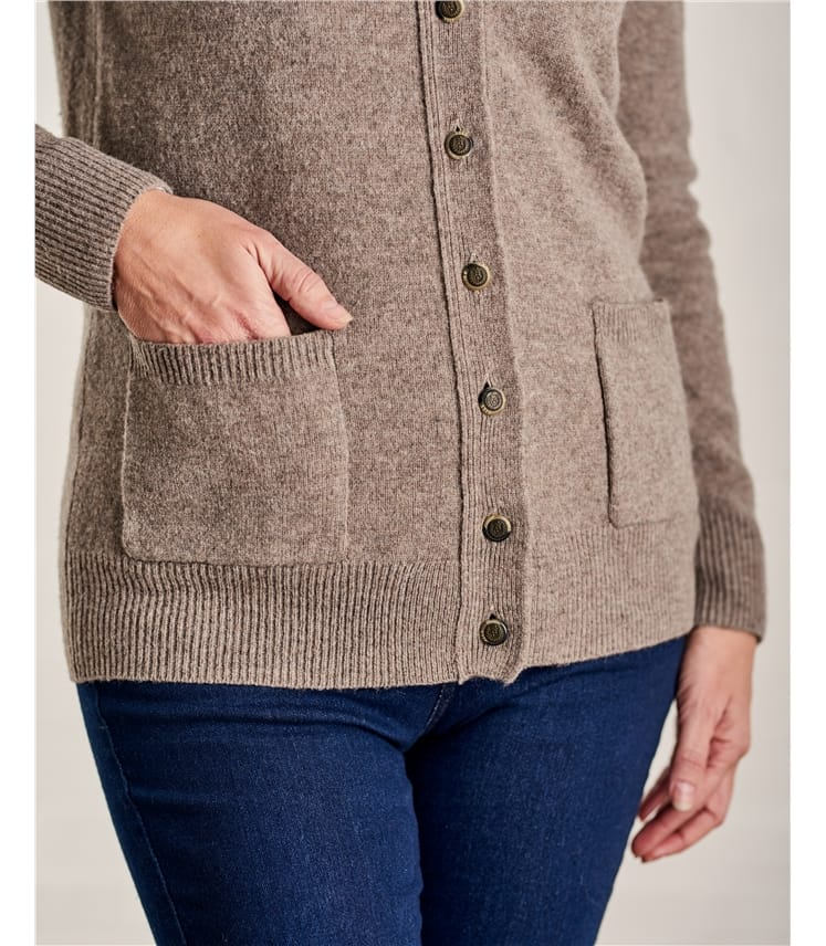 Womens Lambswool V Neck Cardigan