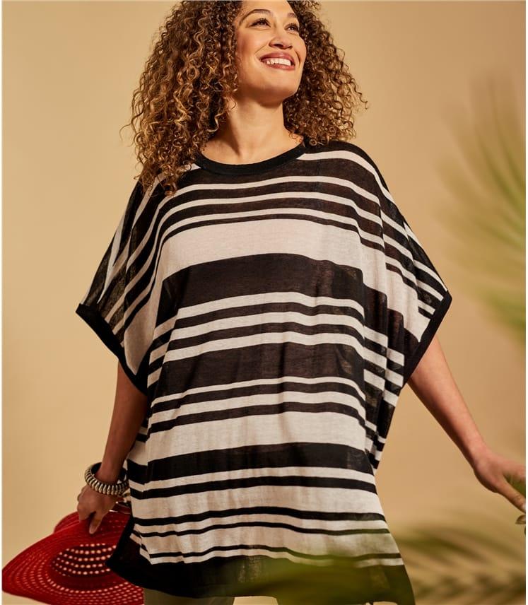 Womens Stripe Oversized Tunic