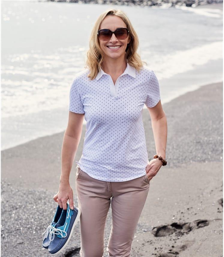 Womens Jersey Polo Shirt