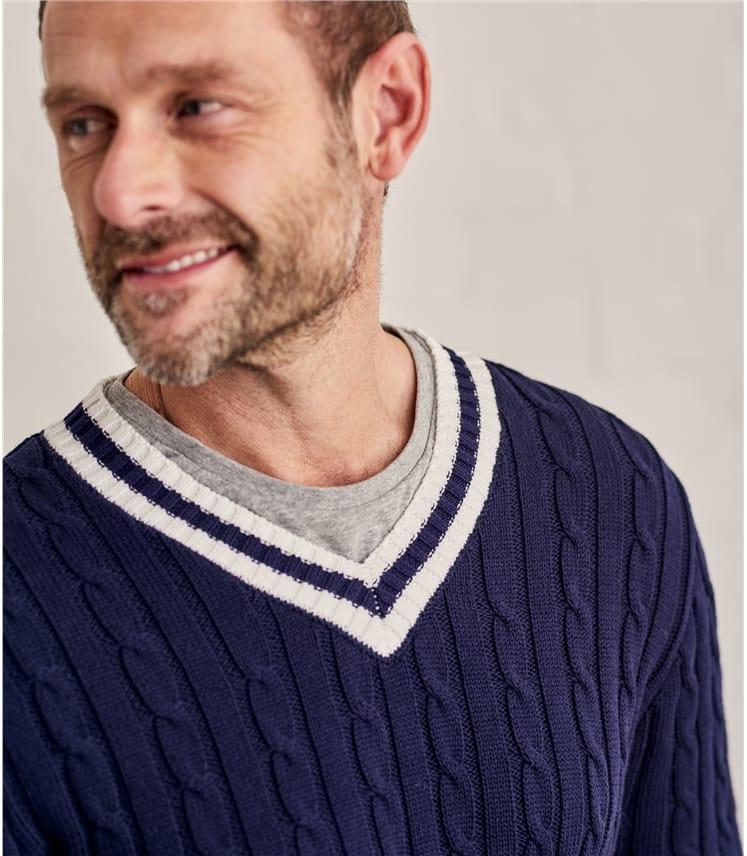 Mens Cotton Cricket Sweater